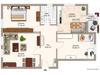 Etagenwohnung mieten in Darmstadt, 87,09 m² Wohnfläche, 3 Zimmer